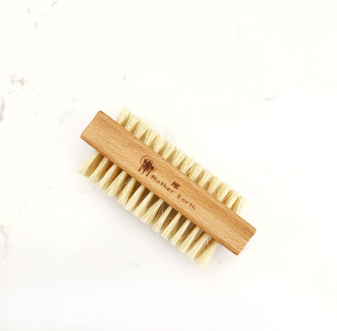 sissal and wood nail brush