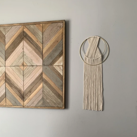 Les Gold Hoop Wall Hanging