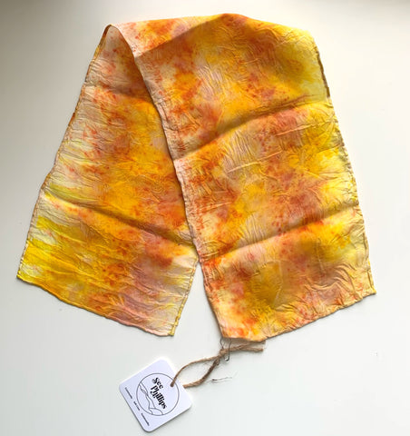 tumeric strawberry naturally dyed scarf