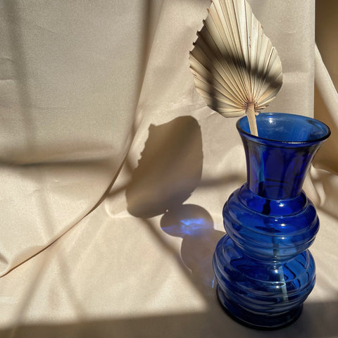 Blue Curve Glass Vase