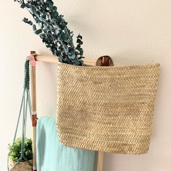 palm leave handwoven Wall Basket - New Origin Shop