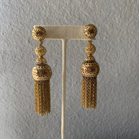 austin thrift store finds chandelier statement earrings