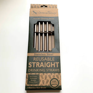 Straight Stainless Steel Straws - New Origin Shop