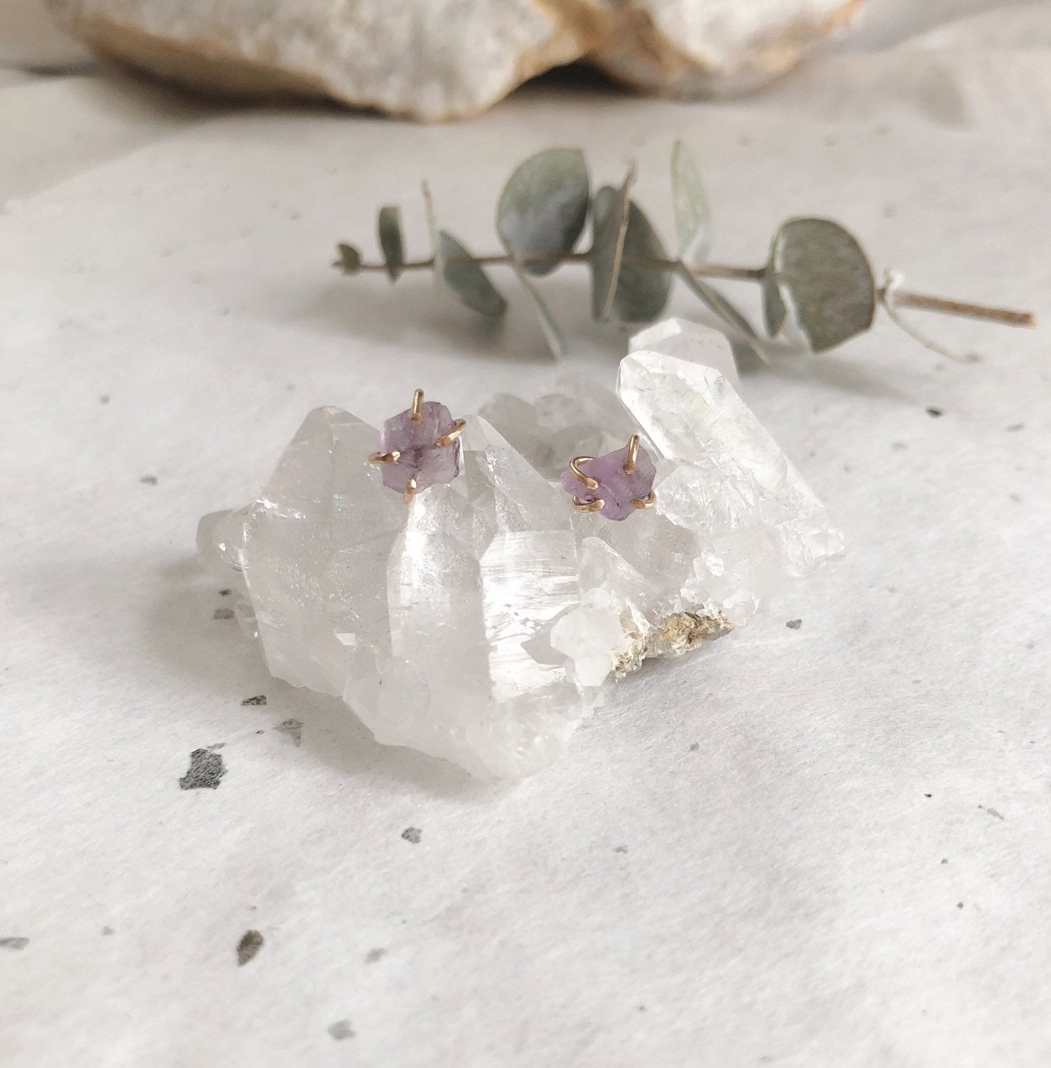 Amethyst Studs - New Origin Shop