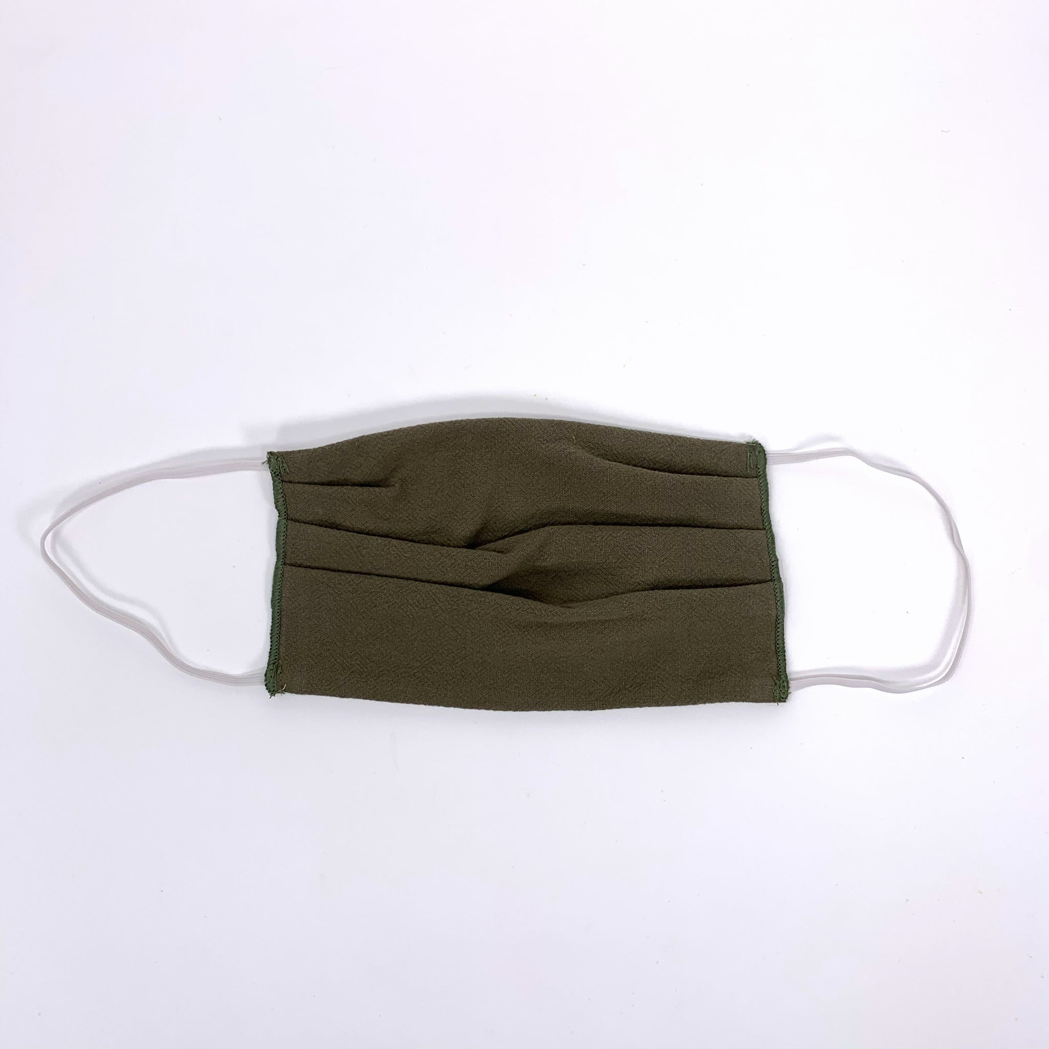 Olive Neutral Pleated Face Mask - New Origin Shop