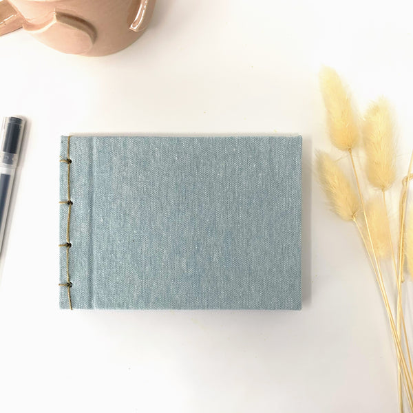 Essex Linen Aqua small journal