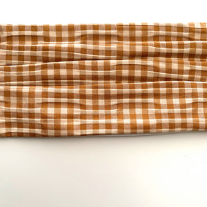 Pleated Face Mask-Gingham - New Origin Shop
