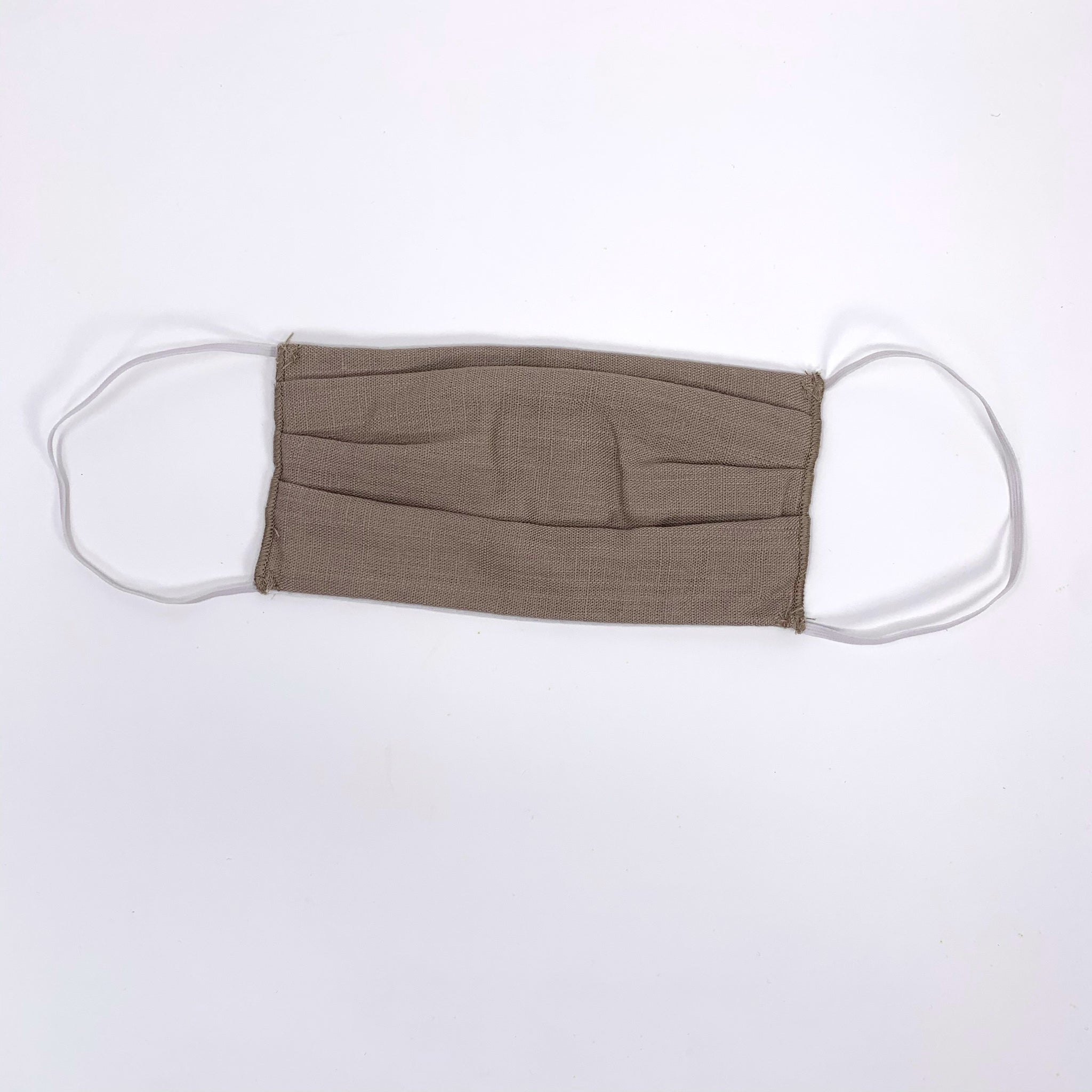 Neutral Pleated Face Mask-Tan - New Origin Shop