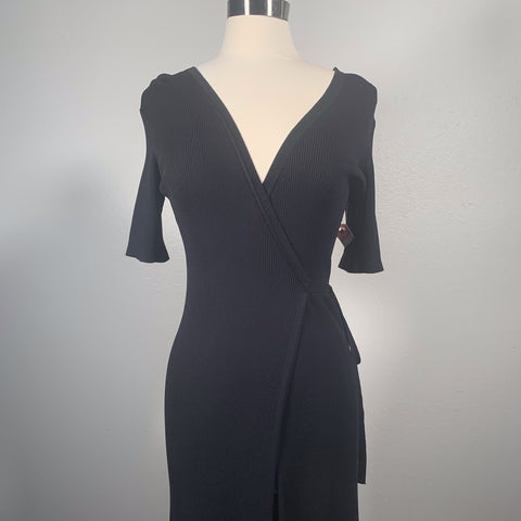 Black Wrap Dress - New Origin Shop LLC