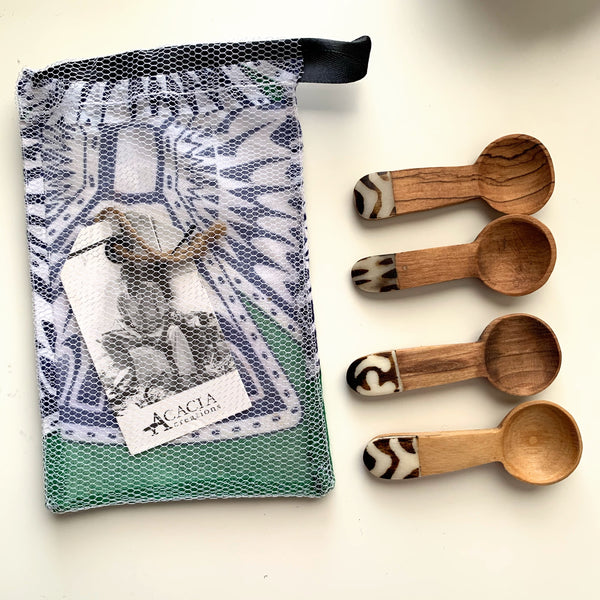 Olive Wood Tea Spoon Set - New Origin Shop