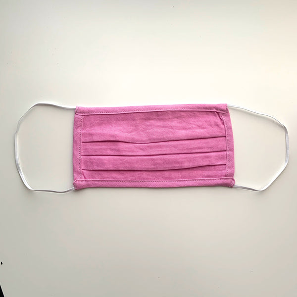 Pleated Face Mask-Pink - New Origin Shop