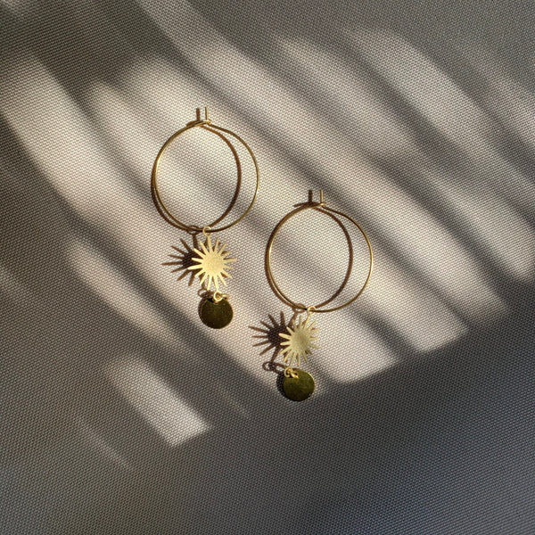black owned business delicate hoop earrings