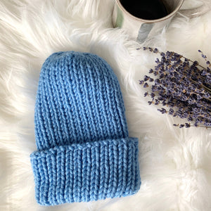 Blue Moon Color Made Easy Knit Beanie Hat