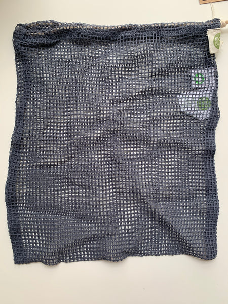 ECOBAGS Storm Blue Net Drawstring Bag - New Origin Shop