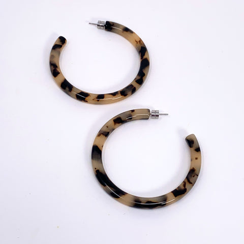 Bold Hoops in Blonde Tortoise - New Origin Shop