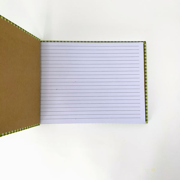 lined paper journal handmade in conneticut