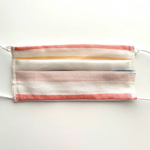 Kids Pleated Face Mask-Striped Print - New Origin Shop