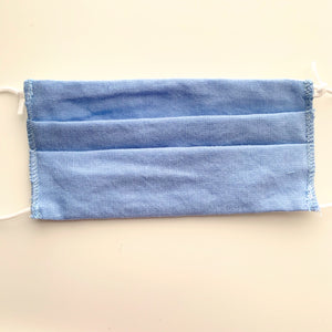 Kids Pleated Face Mask-Solid Blue - New Origin Shop