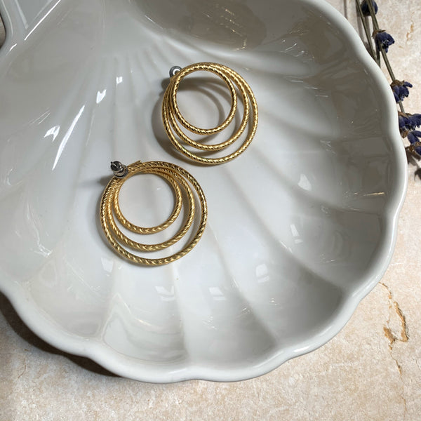 Triple Arc Round Earrings - New Origin Shop