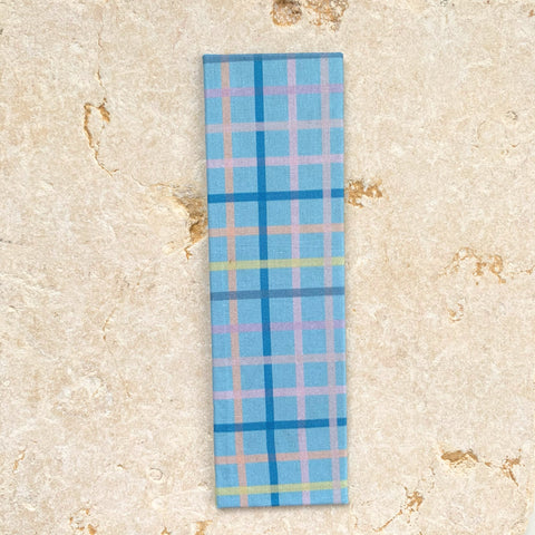 blue plaid bookmark, book lovers gift ideas