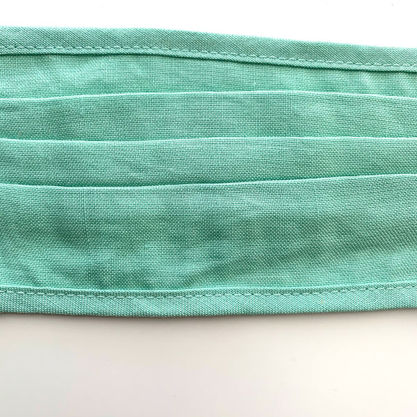 Pleated Face Mask-Green - New Origin Shop