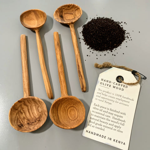 Olive Wood Coffee Spoon Set - New Origin Shop