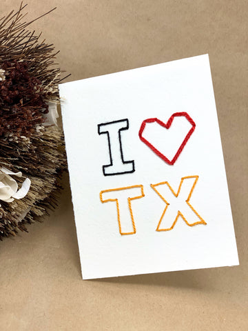 I ♥️ TX Handmade Fiber Card - New Origin Shop
