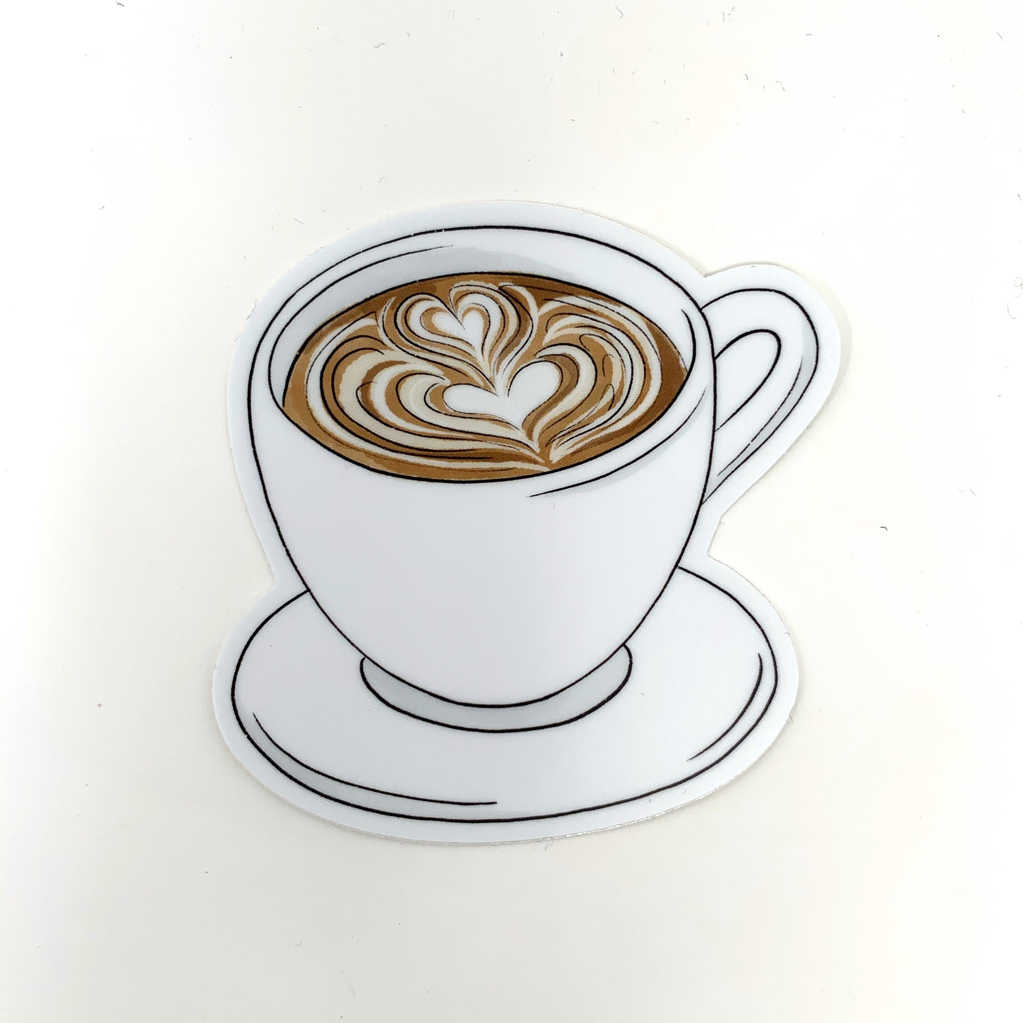 Latte Coffee Mug Sticker - New Origin Shop LLC