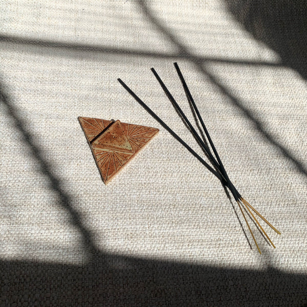 Ceramic Incense Burner Triangle - New Origin Shop
