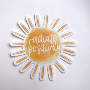 Radiate Positivity Sun Sticker - New Origin Shop