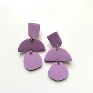 Chunky Statement Pastel Lavender Clay Earrings - New Origin Shop
