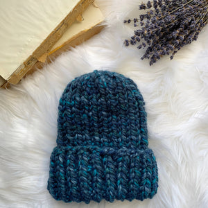Wool Blend Ribbed Beanie Hat