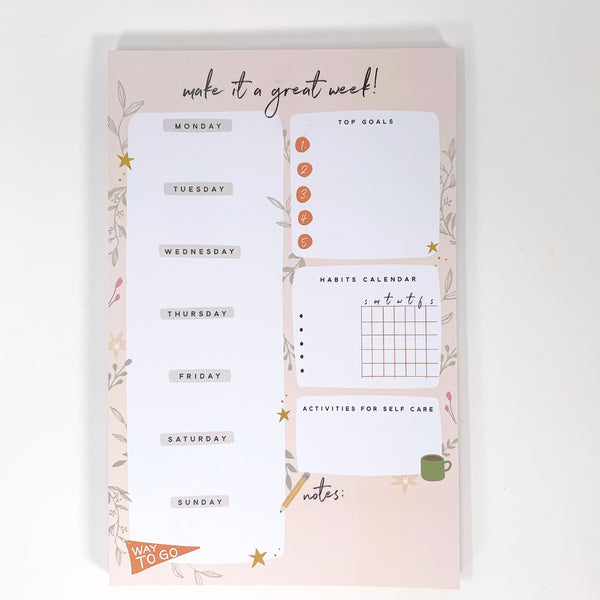 Make It A Great Week Notepad - New Origin Shop