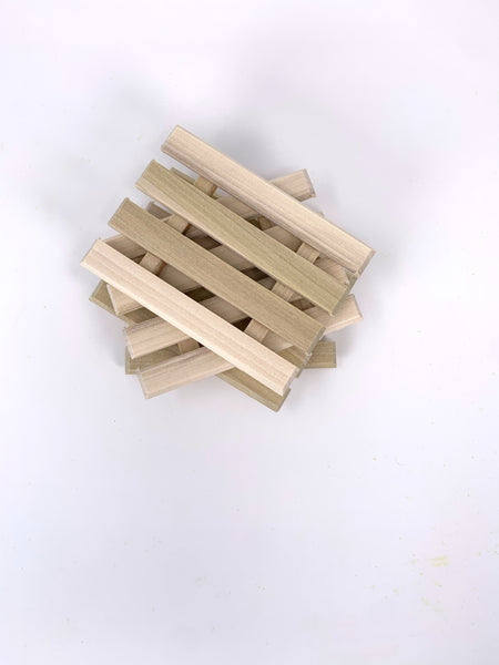 Natural Poplar Wood Soap Dish - New Origin Shop