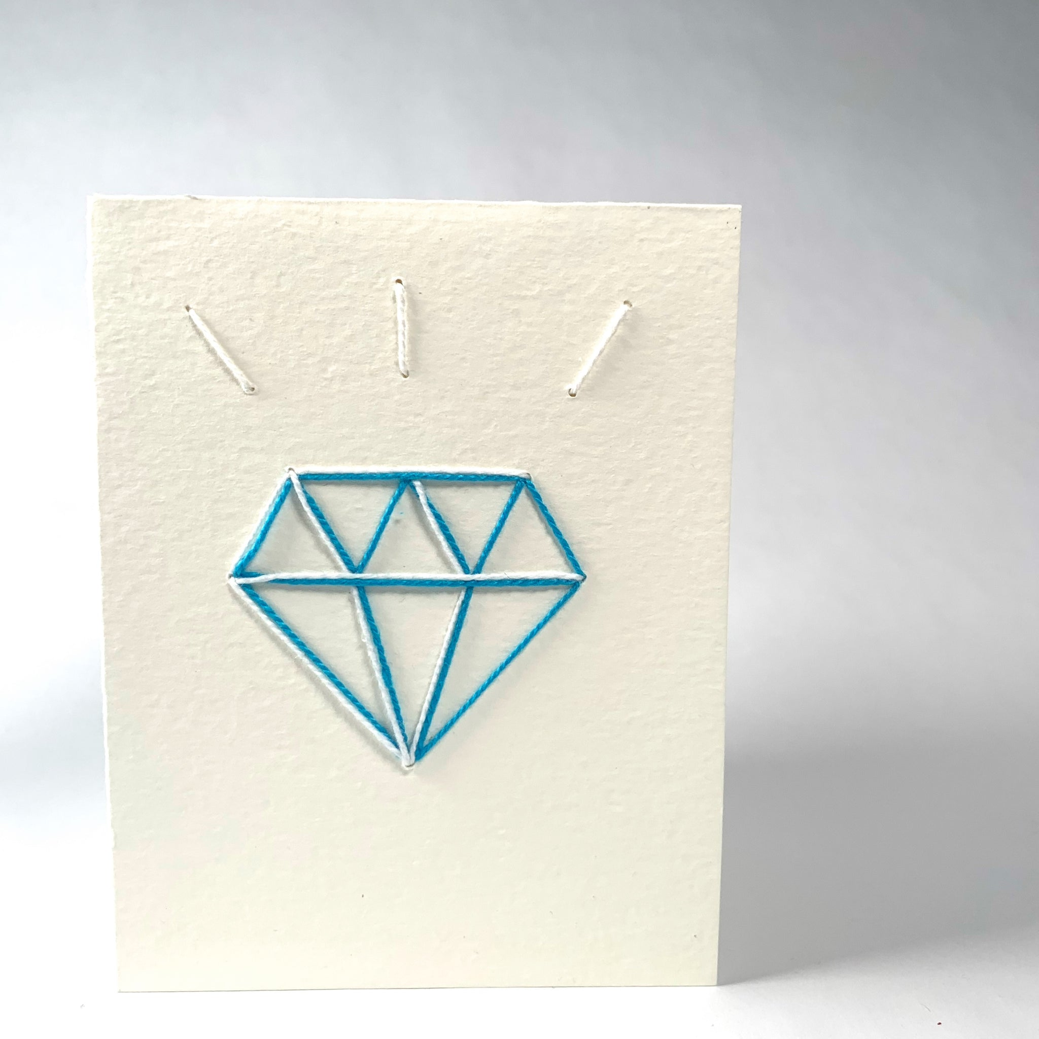 """Diamond"" Handmade Fiber Card - New Origin Shop"