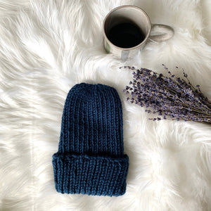 huckleberry blue knit hat fall winter accessory austin shop