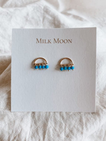 Milk Moon Turquoise Sunrise Earrings