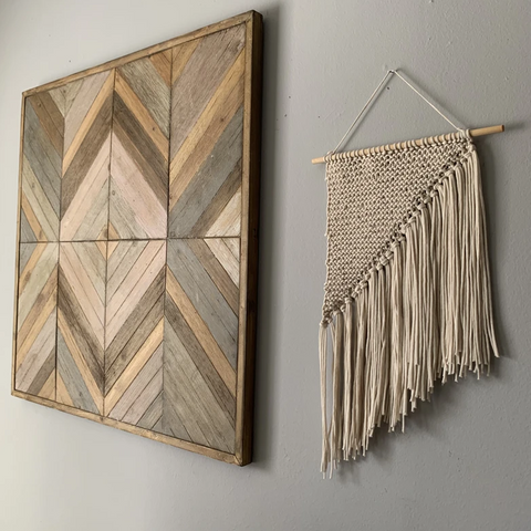 Les Square Knit Wall Hanging