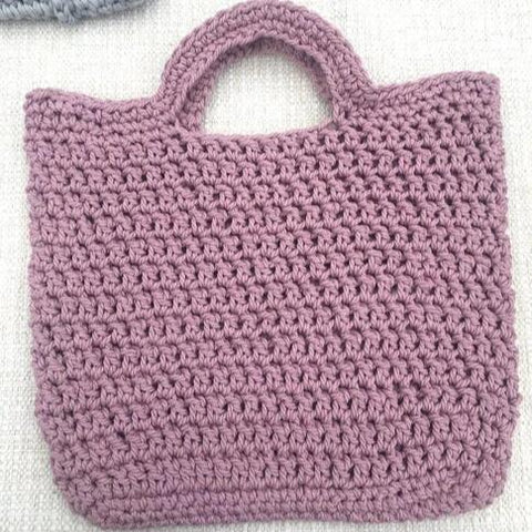 Mauve Crochet Bag - New Origin Shop