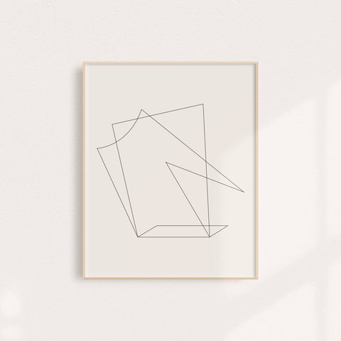 Minimalist, Modern Abstract Wall Art Print