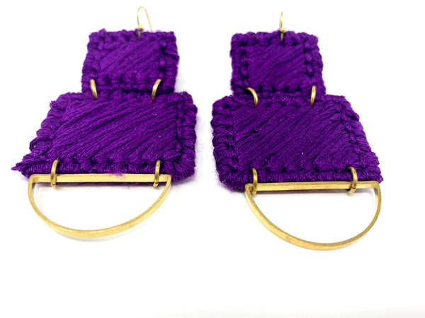 Ra-Ra Fiber Earring + Brass Earring - New Origin Shop