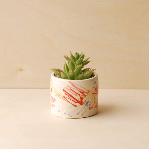 Scribble Planter-Beach