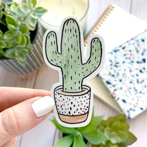 Watercolor Potted Cactus Terra Cotta Plant Sticker - New Origin Shop