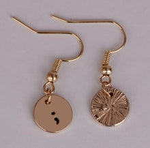 Load image into Gallery viewer, The-Semicolon's Drop Earrings
