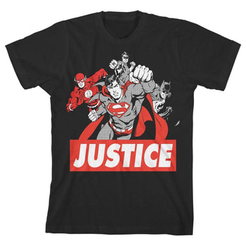 DC Comics Justice League Black & White T-Shirt
