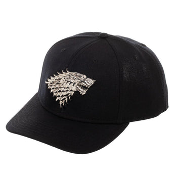 Game Of Thrones House Stark Direwolf Logo Snapback Hat