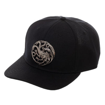 Game Of Thrones House Targaryen 3D Logo Snapback Hat