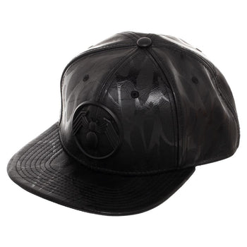 Venom Metal Front Art Black Snapback Hat
