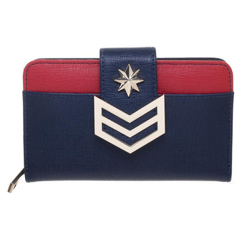 Marvel Captain Marvel Clutch Snap Zipper Wallet