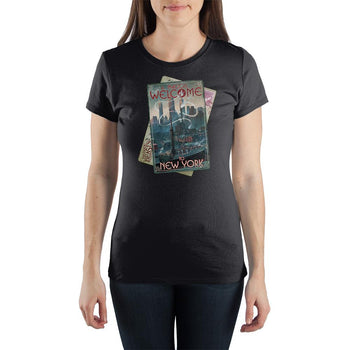 Fantastic Beasts A Magical Welcome to New York Women's Black T-Shirt